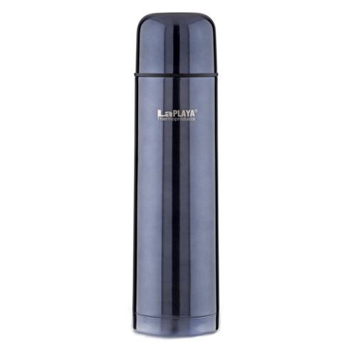 Термос LaPlaya Mercury, цвет: темно-синий, 1 л560070Термос LaPlaya Mercury изготовлен из нержавеющей стали 18/8 и пластика. В этом термосе применена система высококачественной вакуумной изоляции. Термос помогает сохранить температуру в течение 8 часов для горячих напитков и 24 часов для холодных. Особенностью термоса является наличие герметичной разборной пробки-стопора клапанного типа для удобного наливания напитков. Диаметр горлышка: 5 см. Высота: 30 см.