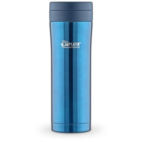 Кружка-термос LaPlaya JMK с вакуумной изоляцией, цвет: синий, 0,5 л560073Кружка-термос с вакуумной изоляцией LaPlaya JMK идеально подходит для любителей свежезаваренных напитков в дороге, офисе, на природе. Можно использовать для охлажденных напитков с кусочками льда. Легкий небьющийся корпус с двумя стенками выполнен из нержавеющей стали. Превосходная вакуумная изоляция для продолжительного сохранения горячих и холодных напитков. Крышка-пробка герметично завинчивается. Полностью разборная, гигиеническая и легкая в уходе система питья. Подходит к большинству автомобильных держателей стаканов.