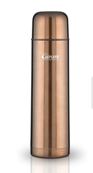 Термос LaPlaya Mercury, цвет: бронзовый, 500 мл560077Термос LaPlaya Mercury изготовлен из нержавеющей стали 18/8 и пластика. В этом термосе применена система высококачественной вакуумной изоляции. Термос помогает сохранить температуру в течение 8 часов для горячих напитков и 24 часов для холодных. Особенностью термоса является наличие герметичной разборной пробки-стопора клапанного типа для удобного наливания напитков. Диаметр горлышка: 4,5 см. Высота: 25 см.
