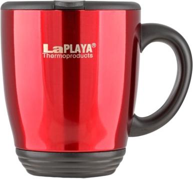 Кружка-термос LaPlaya DFD 2040, цвет: красный, 0,44 л560090Корпус кружки-термоса LaPlaya DFD 2040 выполнен из высококачественной нержавеющей стали с двумя стенками. Пластиковая крышка легко открывается для удобного питья. Кружка идеально подходит для использования в офисе и дома, на отдыхе, во время путешествий.