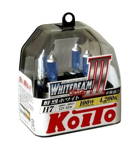 Лампа высокотемпературная Koito Whitebeam H7 12V 55W 100W пластиковая упаковка - 2 шт. комплект P0755WKOITO Лампа автомобильная P0755WЛампы KoiTo h7 повышенной яркости торговой марки Koito являются высококачественными расходниками для автомобильного освещения. Высокое качество данных ламп достигнуто внедрением в производство передовых технологий и использование лучших материалов обладающих бесподобными характеристиками. Компания Koito удерживает мировое лидерство на рынке реализации данной продукции и заслужила доверие сотен автовладельцев своим высоким качеством. Применение: Лампы h7 koito 4200K повышенной яркости используют для головного освещения дорожного покрытия. Передние фары, оборудованные данными лампами, освещают намного эффективнее стандартных ламп. Работают они от напряжения 12В, тип цоколя H7. Такие требования к электрооборудованию позволяет установить данные лампы на множество моделей и марок авто. Особенности и преимущества: При мощности 55Вт, они работают на 100Вт; Если вы выбрали лампы h7 koito, то они гарантированно прослужат Вам полтора года, и не потеряют своих высоких...