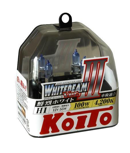 Комплект галогеновых ламп Koito Whitebeam H1, 12V, 55W, 4200 К, 2 штKOITO Лампа автомобильная P0751WЯпонская компания KOITO - мировой лидер по производству автомобильных ламп и оптики. Компания основана в 1915 году и в настоящее время входит в корпорацию TOYOTA GROUP и имеет представительства и совместные предприятия по всему миру. Продукция KOITO широко применяется не только для автомобилей, но и для железнодорожных подвижных составов, авиационного и морского транспорта. Компания KOITO выпускает все разновидности лампочек, начиная от ламп головного света и заканчивая подсветкой салона и приборов, для абсолютно всех моделей японских автомобилей и мотоциклов. Компания KOITO выпускает все разновидности ламп и предохранителей для всех моделей японских автомобилей, а также широкий ассортимент для европейских и американских автомобилей. В ассортименте KOITO есть как лампы стандартной комплектации, так и лампы особых серий, таких как VWHITE и WHITEBEAM. Лампы особых серий VWHITE и WHITEBEAM обеспечивают удвоенную яркость при стандартной мощности. Эти лампы соответствуют всем нормам и...
