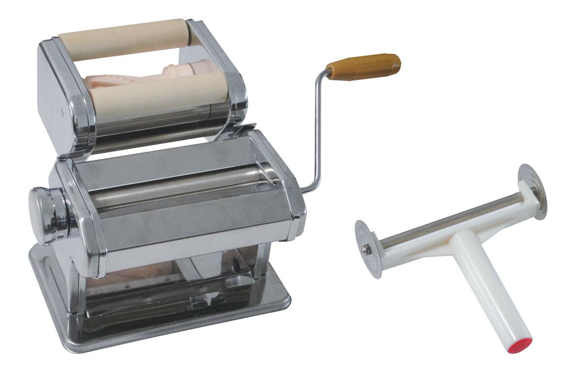 Машинка для изготовления пельменей BekkerBK-5202Машинка для изготовления пельменей Bekker выполнена из нержавеющей стали. Машинка состоит из нескольких частей: блок для раскатки теста, регулятор толщины теста, блок для изготовления пельменей, ручка, нож для резки теста, фиксатор. С помощью такой машинки очень легко готовить пельмени: - прокатите тесто через машинку; - разделите пласт таким образом, чтобы его стороны лежали по разные стороны от валиков; равномерно распределите начинку между сторонами пласта; - поворачивайте ручку машинки, добавляя начинку по мере необходимости; - после того, как весь пласт пройдет через валки, положите его на сухое полотенце и разделите на пельмени. Теперь приготовление пельменей займет у вас намного меньше времени и станет приятным домашним занятием, а ваши кулинарные шедевры, приготовленные с помощью такого прибора, обязательно оценят по достоинству.