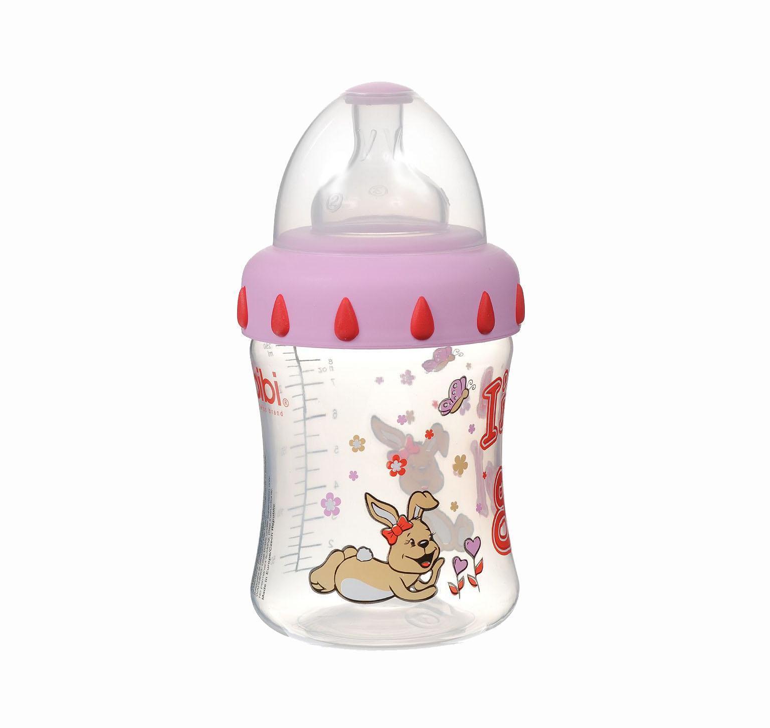 Бутылочка для кормления Bibi Little Stars, с силиконовой соской, от 0 месяцев, цвет: розовый, 250 мл107993_розовыйШвейцарская фирма Bibi производит детские бутылочки только из безопасных материалов, не содержащих Бисфенола-А. В каждой бутылочке Bibi есть антиколиковый клапан, исключающий возникновение неприятных ощущений у ребенка. Удобная форма бутылочки и съемные ручки помогают малышу держать ее в руках самостоятельно.
