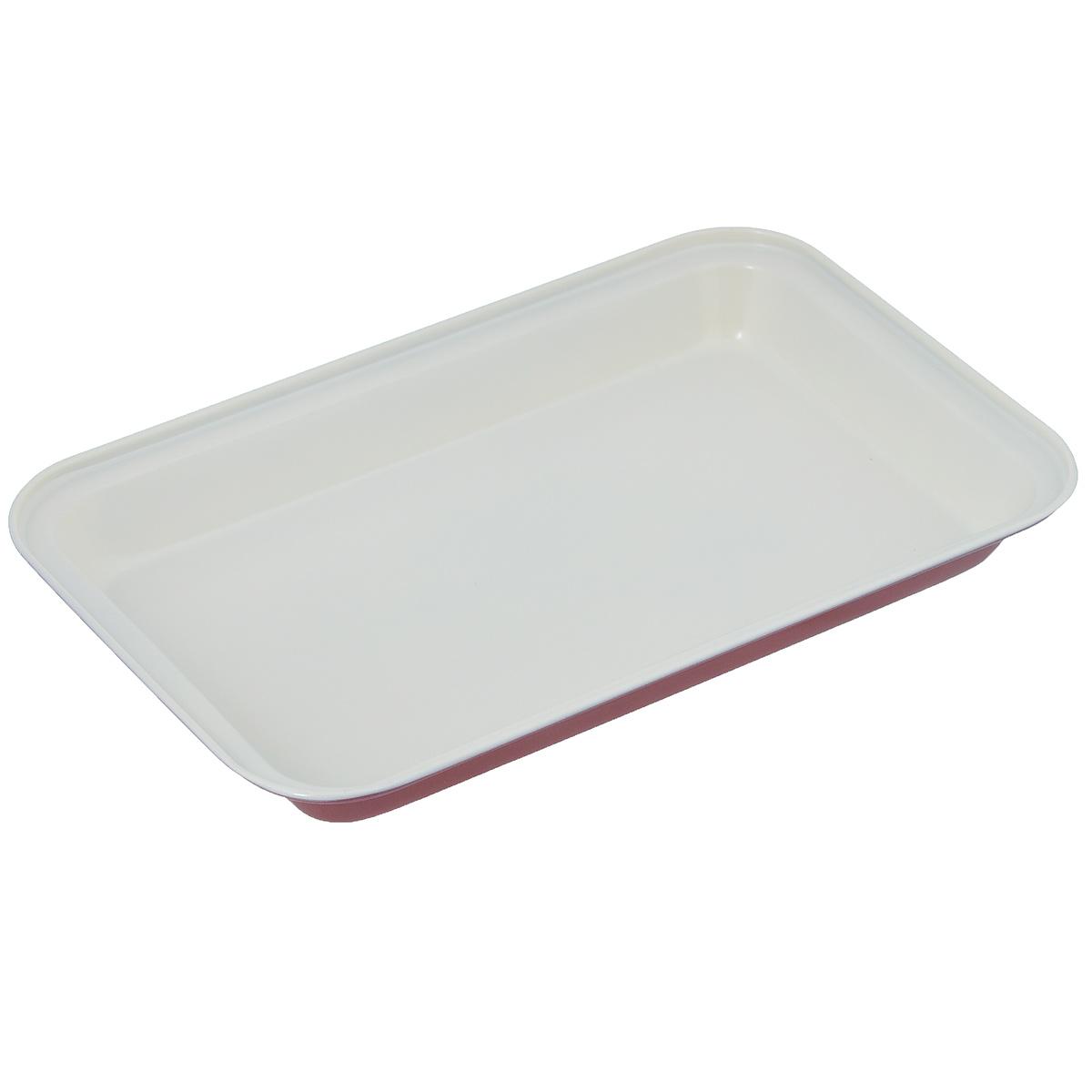 Форма для выпечки Bekker, с керамическим покрытием, прямоугольная, цвет: красный, белый, 18 см х 28 смBK-3974Прямоугольная форма Bekker изготовлена из углеродистой стали с антипригарным керамическим покрытием Pfluon, благодаря чему пища не пригорает и не прилипает к стенкам посуды. Снаружи форма покрыта цветным жаропрочным покрытием. Готовить можно с добавлением минимального количества масла и жиров. Антипригарное покрытие также обеспечивает легкость мытья. Стенки ровные. Для чистки нельзя использовать абразивные чистящие средства и жесткие губки. Подходит для использования в духовом шкафу. Нельзя мыть в посудомоечной машине.