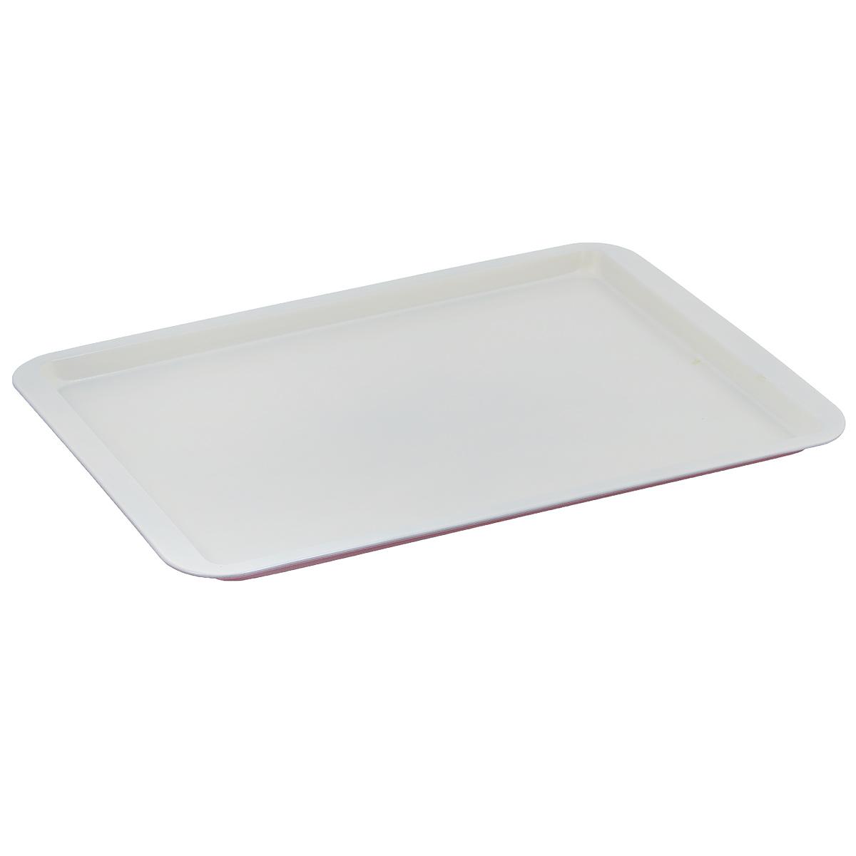 """Противень """"Bekker"""", с керамическим покрытием, прямоугольный, цвет: красный, белый, 43 см х 29 см BK-3969"""