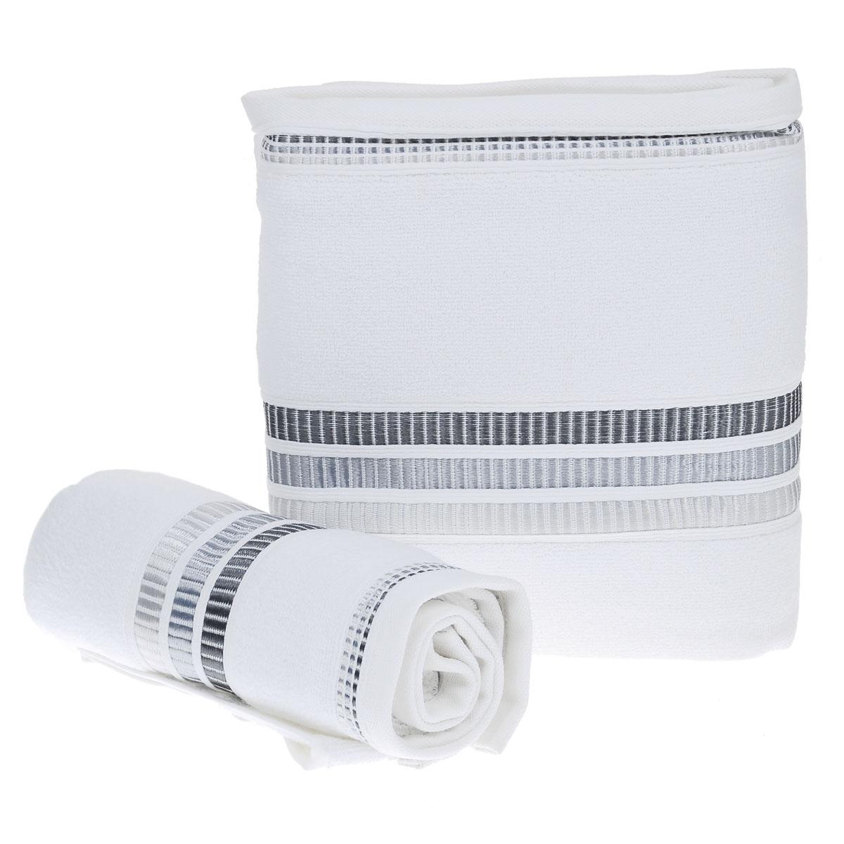 Набор махровых полотенец Coronet Пиано, цвет: белый, 2 шт. Б-МП-2020-15-01-кБ-МП-2020-15-01-кПодарочный набор Coronet Пиано состоит из двух полотенец разного размера, выполненных из натуральной махровой ткани. Полотенца украшены изящным декоративным тиснением. Мягкие и уютные, они прекрасно впитывают влагу и легко стираются. Такой набор подарит вам мягкость и необыкновенный комфорт в использовании. Благодаря высокому качеству изготовления, полотенце будет радовать многие годы. Полотенца упакованы в подарочную коробку и станут приятным и полезным подарком вашим друзьям и близким. Комплектация: 2 шт. Размер полотенец: 100 см x 150 см, 50 см x 90 см. Плотность полотенец 550 г/м.