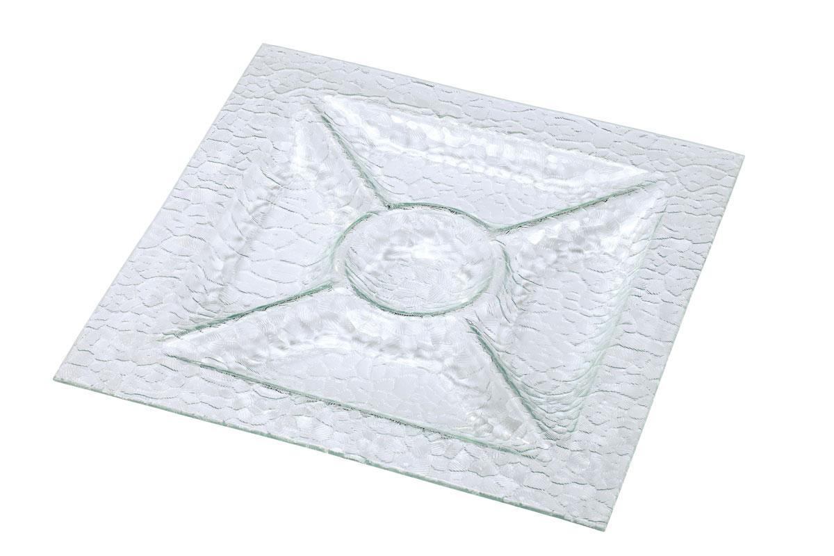 Менажница Bekker, 5 отделений, 36 х 36 смBK-6706Менажница Bekker выполнена из высококачественного стекла и оформлена изысканным рельефом, который придает изделию роскошный внешний вид. Менажница имеет 5 отделений для подачи различных закусок, соусов, салатов и т.д. Менажница Bekker красиво оформит сервировку стола, идеальный вариант для торжественных случаев. Подходит для чистки в посудомоечной машине.