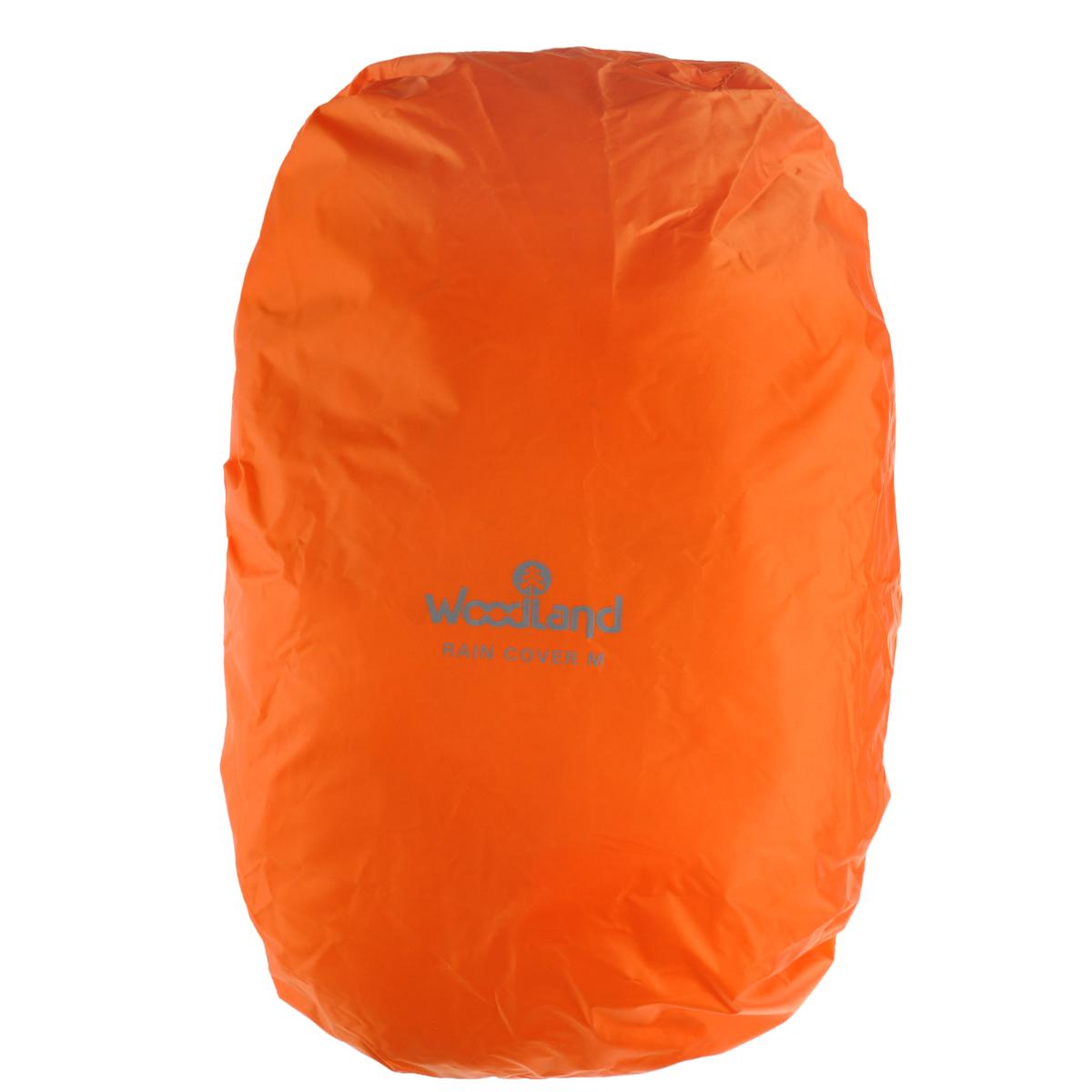 Чехол штормовой для рюкзака WoodLand Raincover, цвет: оранжевый. Размер M30785Защитный чехол WoodLand Raincover используется для рюкзаков большого объема. Он обеспечивает достойную защиту рюкзака в суровых условиях. Чехол выполнен из полиэстера 75D 5000 мм. Закрывается на шнурок на кулиске.