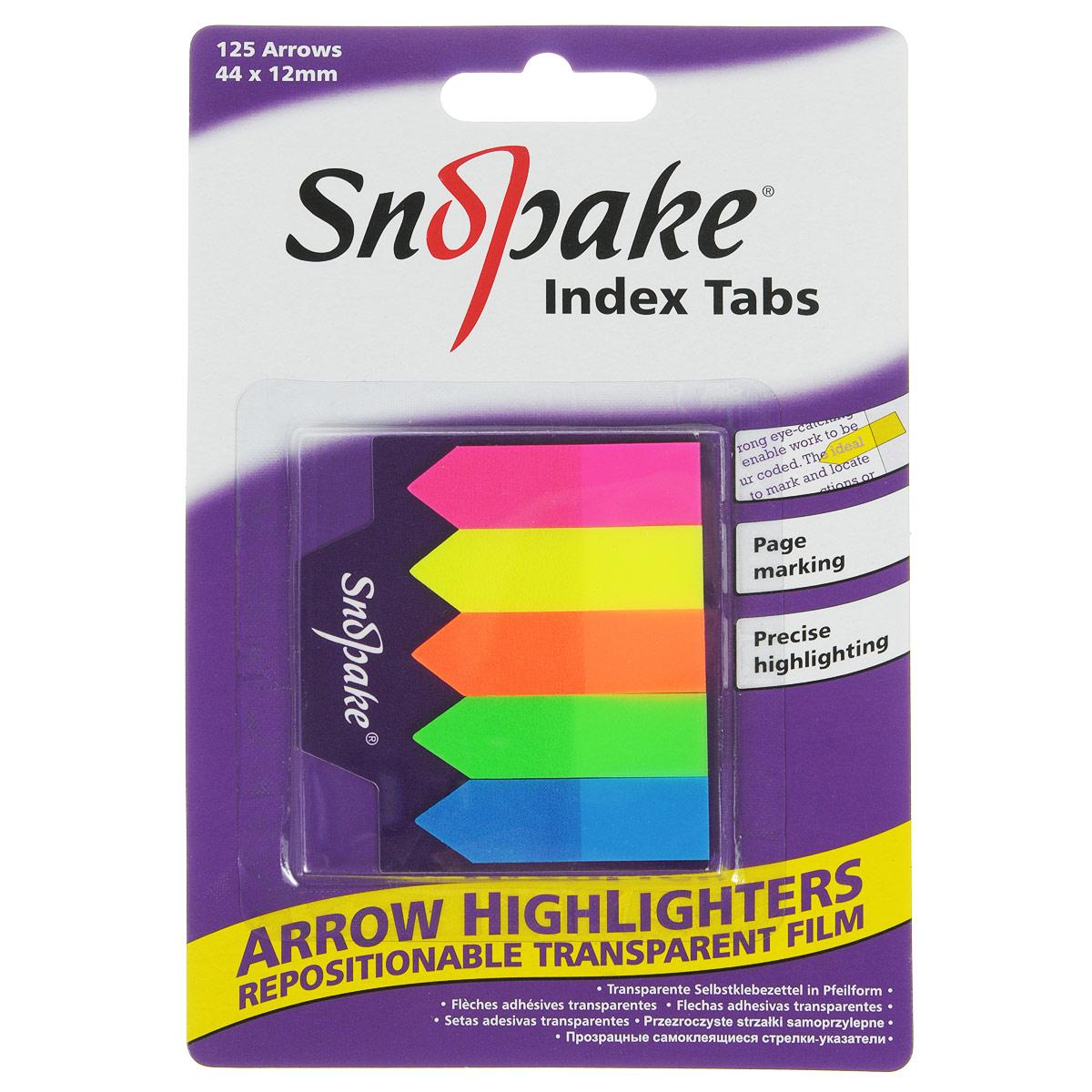"Закладка-указатель самоклеящаяся Snopake ""Index Tab"", 4,4 см х 1,2 см, 125 шт"