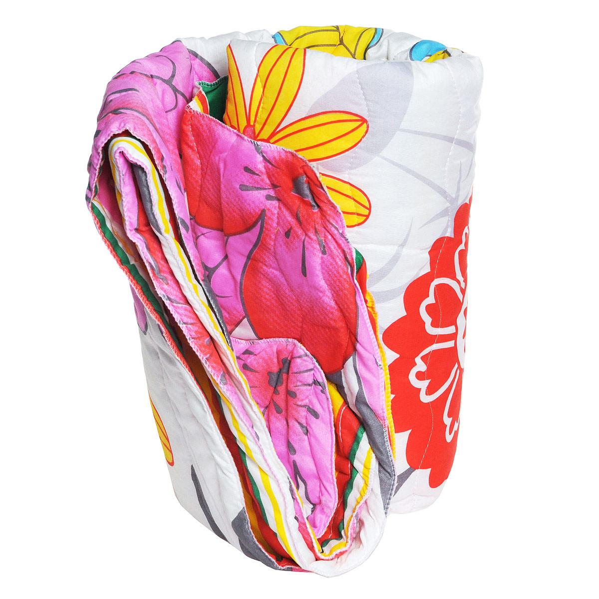 Одеяло летнее Радуга, наполнитель: синтепон, 140 х 200 см, в ассортиментеOC-140-200новОдеяло Радуга обеспечит вам здоровый сон и комфорт. Чехол выполнен из полиэстера и украшен красочным рисунком. В качестве наполнителя используется синтепон. Синтепон - это легкий и объемный наполнитель, который обладает отличными теплоизоляционными свойствами. Наполнитель делает одеяло легким и воздушным, с отличной терморегуляцией. Под таким одеялом вам не будет жарко летом, оно создаст прекрасный микроклимат для вашего сна. Рекомендации по уходу: - стирка запрещена; - нельзя отбеливать; - не гладить; - не сушить; - химчистка любым растворителем Размер одеяла: 140 см х 200 см. Материал чехла: 100% полиэстер. Материал наполнителя: синтепон. Уважаемые клиенты! Обращаем ваше внимание на ассортимент в дизайне товара. Поставка осуществляется в зависимости от наличия на складе.
