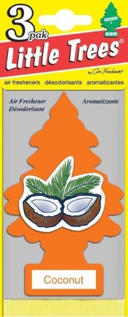 Набор ароматизаторов Car-Freshner Елочка Кокос, 3 штU3S-32017Оригинальный ароматизатор сделан из высококапилярного качественного картона - что позволяет долго сохранять аромат и насыщенность красок изображения. Уникален по эффективности действия, насыщенности и стойкости запаха Повесьте ароматизатор в любом удобном месте - в салоне автомобиля, дома или в офисе - и получайте удовольствие! Характеристики: Материал: 100% спрессованная целлюлоза, полимеры, не токсичные отдушки. Размер упаковки: 19 см х 7,5 см х 1 см. Артикул: U3S-32017.
