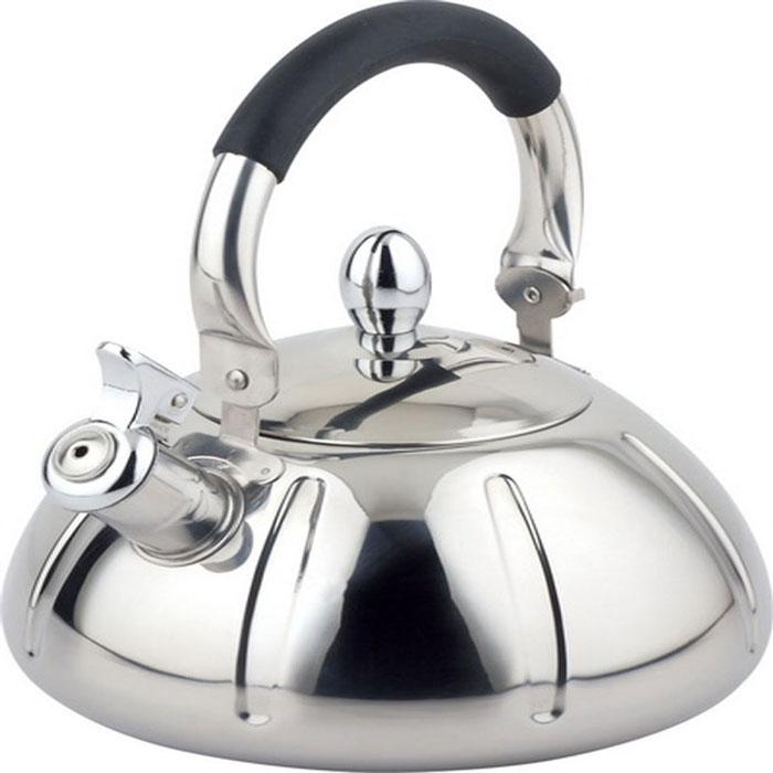Чайник Bohmann со свистком, 3 л. 9929BH9929BHЧайник Bohmann изготовлен из высококачественной нержавеющей стали с зеркальной полировкой. Нержавеющая сталь - материал, из которого в течение нескольких десятилетий во всем мире производятся столовые приборы, кухонные инструменты и различные аксессуары. Этот материал обладает высокой стойкостью к коррозии и кислотам. Прочность, долговечность и надежность этого материала, а также первоклассная обработка обеспечивают практически неограниченный запас прочности и неизменно привлекательный внешний вид. Чайник оснащен удобной ручкой с цветной силиконовой вставкой, что предотвращает появление ожогов и обеспечивает безопасность использования. Благодаря широкому верхнему отверстию, в чайник удобно заливать воду и прочищать его изнутри. Носик чайника имеет откидной свисток, который подскажет, когда вода закипела. Можно использовать на газовых, электрических, галогенных, стеклокерамических, индукционных плитах. Можно мыть в посудомоечной машине.