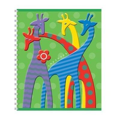 Полиграфика Тетрадь на спирали, 60л Жирафы, цвет: зеленый4601921376296Полиграфика Тетрадь на спирали, 60л Жирафы, цвет: зеленый