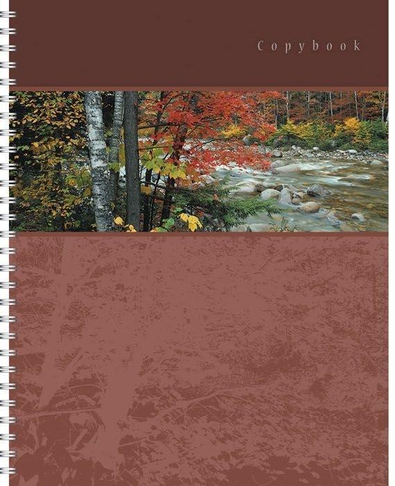 Полиграфика Тетрадь А4 120л Панорама, жесткий ламинат (матовый), цвет: коричневый4601921376494