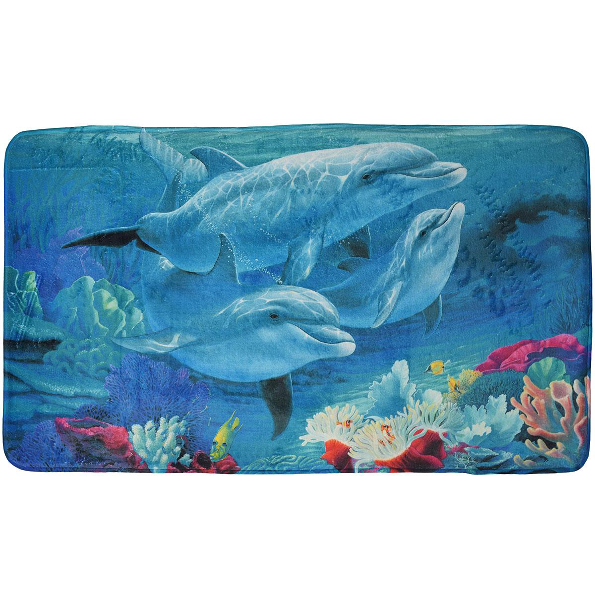 Коврик White Fox Дельфины , 60 х 100 смWHMR24-224Коврик White Fox Дельфины из серии Relax равномерно распределяет нагрузку на поверхность стопы, снимая напряжение и усталость в ногах. Он состоит из трех слоев: - верхний флисовый слой прекрасно дышит, благодаря чему коврик быстро высыхает; - основной слой выполнен из специального вспененного материала, который точно повторяет рельеф стопы, создает комфорт и полностью восстанавливает первоначальную форму; - нижний резиновый слой препятствуют скольжению коврика на полу. Качественное изделие притягивает взгляд и прекрасно подойдет к интерьеру вашего дома. Можно стирать в стиральной машине при температуре 30°С.