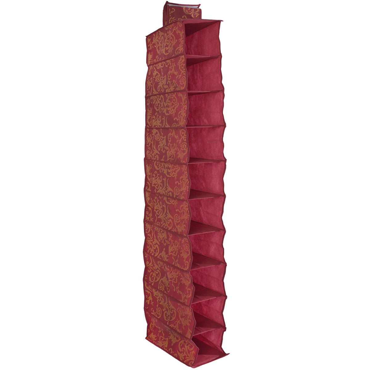 Кофр для хранения вещей Sima-land, подвесной, 10 отделений, 15 см х 30 см х 120 см. 862862