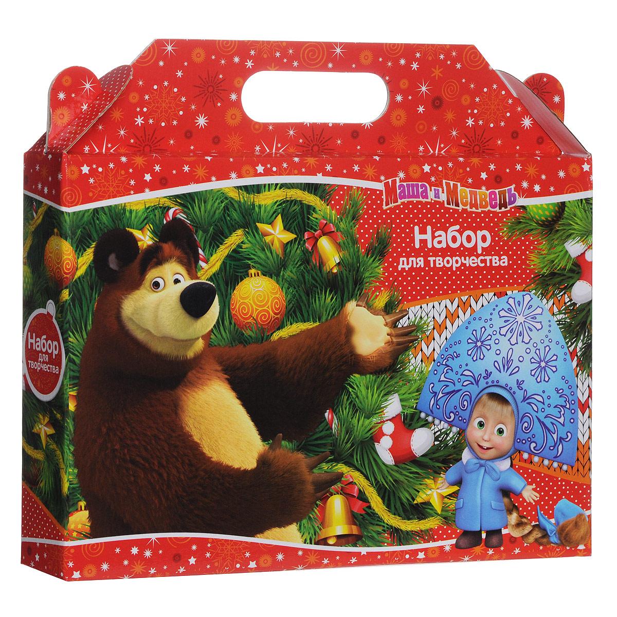 Набор для творчества Маша и Медведь Новогодний, цвет: красный23755Набор для творчества Маша и Медведь Новогодний позволит вашему ребенку создавать всевозможные рисунки, аппликации и поделки. В набор входят 10 листов цветной бумаги, 10 листов цветного картона, пластилин белого, красного, желтого, зеленого, синего, черного коринечвого и оранжевого цветов, пластиковый стек, клей-карандаш и ножницы в защитном фуляре. Набор упакован в подарочную коробку, оформленную изображениями Маши и Мишки - главных героев популярного мультсериала Маша и Медведь. Ножницы с пластиковыми ручками снабжены хорошо заточенными лезвиями из высококачественной нержавеющей стали с закругленными концами. Предусмотрен защитный футляр для лезвий. Пластилин обладает отличными пластичными свойствами, легко размягчается, не липнет к рукам, не имеет запаха, безопасен. Клей-карандаш, предназначенный для склеивания бумаги, картона, ткани и фотографий, легко и равномерно наносится, прочно склеивает различные поверхности. Клей не имеет запаха и безопасен при...