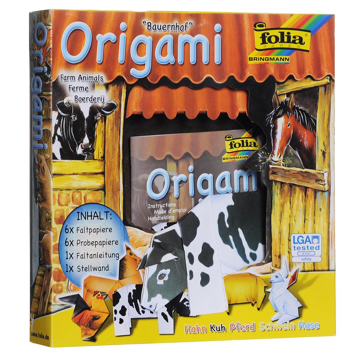 Набор для изготовления оригами Folia Мир животных. Ферма7708135