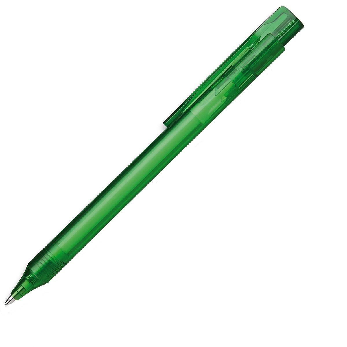 Ручка шариковая Essential, M - 0,5 мм, корпус зеленый прозрачный; синий цвет чернил.