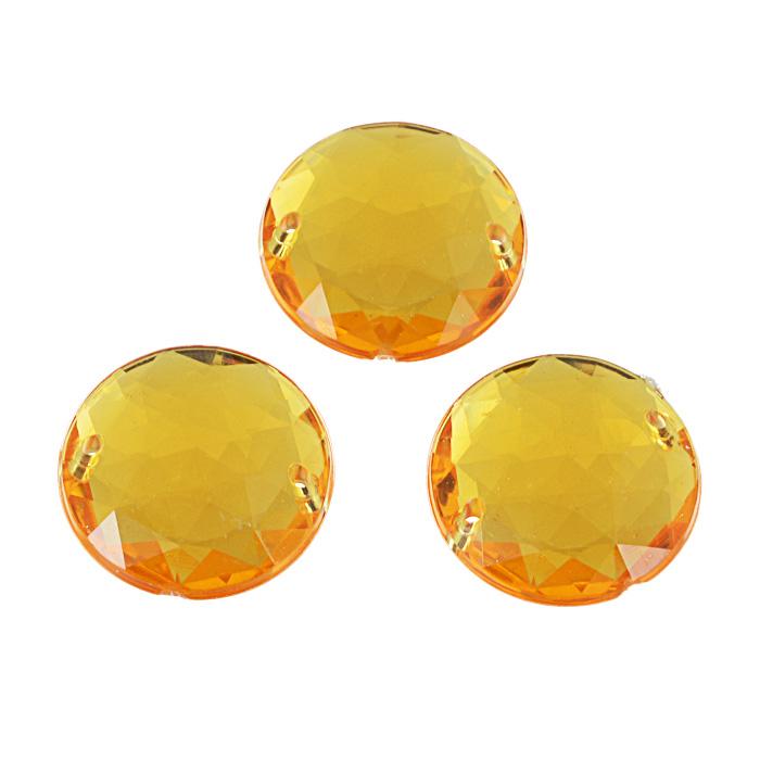 Стразы пришивные Астра, акриловые, круглые, цвет: светло-оранжевый (11), диаметр 25 мм, 3 шт. 7701648_117701648_11 св.оранжевыйНабор страз Астра, изготовленный из акрила, позволит вам украсить одежду и аксессуары. Стразы оригинального и яркого дизайна круглой формы оснащены отверстиями для пришивания. Украшение стразами поможет сделать любую вещь оригинальной и неповторимой.