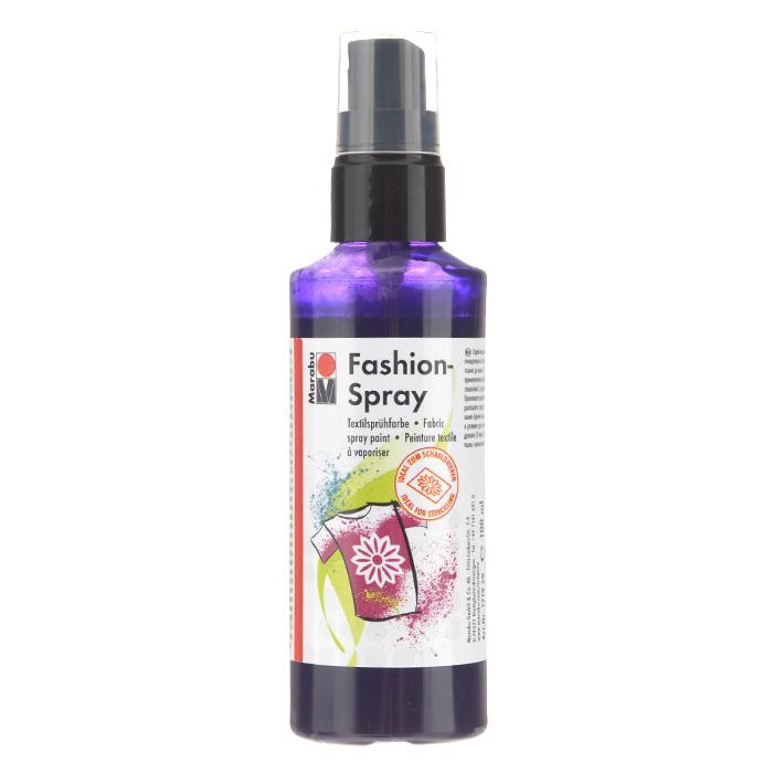 Краска-спрей для текстиля Marabu Fashion Spray, цвет: plum / сливовый (037), 100 мл546630_037Краска-спрей для текстиля Marabu Fashion Spray, изготовлена на водной основе, подходит для светлой, очищенной от аппретуры и смягчителя ткани, а также для натуральных тканей, вискозы, смешанных тканей с содержанием синтетических волокон до 20%. Закрепляется краска-спрей с помощью утюга. С краской для текстиля Marabu Fashion Spray вы сможете оригинально и красиво украсить любой текстиль. Время высыхания 6 часов. Рекомендуется стирать и гладить с изнаночной стороны.