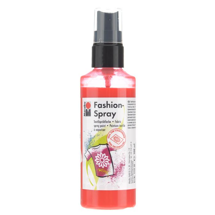 Краска-спрей для текстиля Marabu Fashion Spray, цвет: flamingo / фламинго (212), 100 мл546630_212Краска-спрей для текстиля Marabu Fashion Spray, изготовлена на водной основе, подходит для светлой, очищенной от аппретуры и смягчителя ткани, а также для натуральных тканей, вискозы, смешанных тканей с содержанием синтетических волокон до 20%. Закрепляется краска-спрей с помощью утюга. С краской для текстиля Marabu Fashion Spray вы сможете оригинально и красиво украсить любой текстиль. Время высыхания 6 часов. Рекомендуется стирать и гладить с изнаночной стороны.