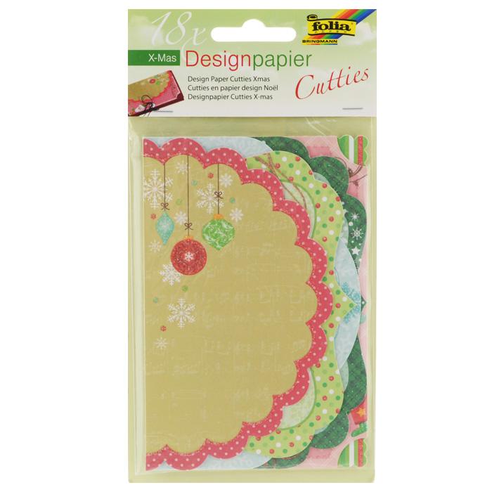 Тэги-ярлычки Folia Рождество, 18 листов7707960Тэги-ярлычки Folia Рождество - это очень красивая дизайнерская бумага с необычайно - восхитительными высечками на листочках с различными узорами рождественской тематики, декорированными блестками. В набор входит 18 листов бумаги (6 дизайнов по 3 листа в каждой тематике). Мини-карточки отрывные. Изделие идеально подходит для написания слов поздравлений на открытках, в семейных альбомах, на подарках, сувенирах, фоторамках, в декоре, скрапбукинге.