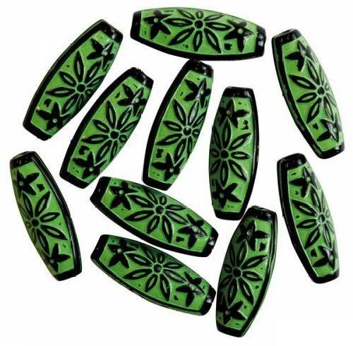 Бусины Астра, цвет: зеленый (003), 29 мм х 12 мм, 16 шт. 7701051_0037701051_003Набор бусин Астра, изготовленный из пластика, позволит вам своими руками создать оригинальные ожерелья, бусы или браслеты. Двухцветные продолговатые бусины оригинального и яркого дизайна оформлены рельефным цветочным орнаментом. Изготовление украшений - занимательное хобби и реализация творческих способностей рукодельницы, это возможность создания неповторимого индивидуального подарка.