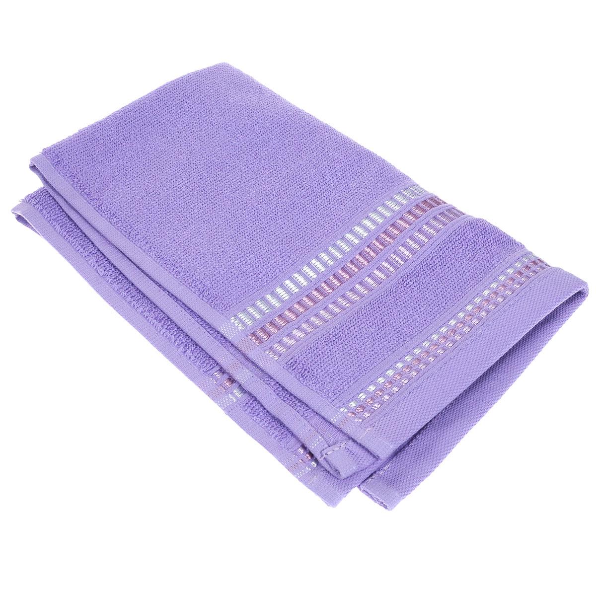 """Полотенце махровое Coronet """"Пиано"""", цвет: светло-лиловый, 30 см х 50 см Б-МП-2020-08-09"""