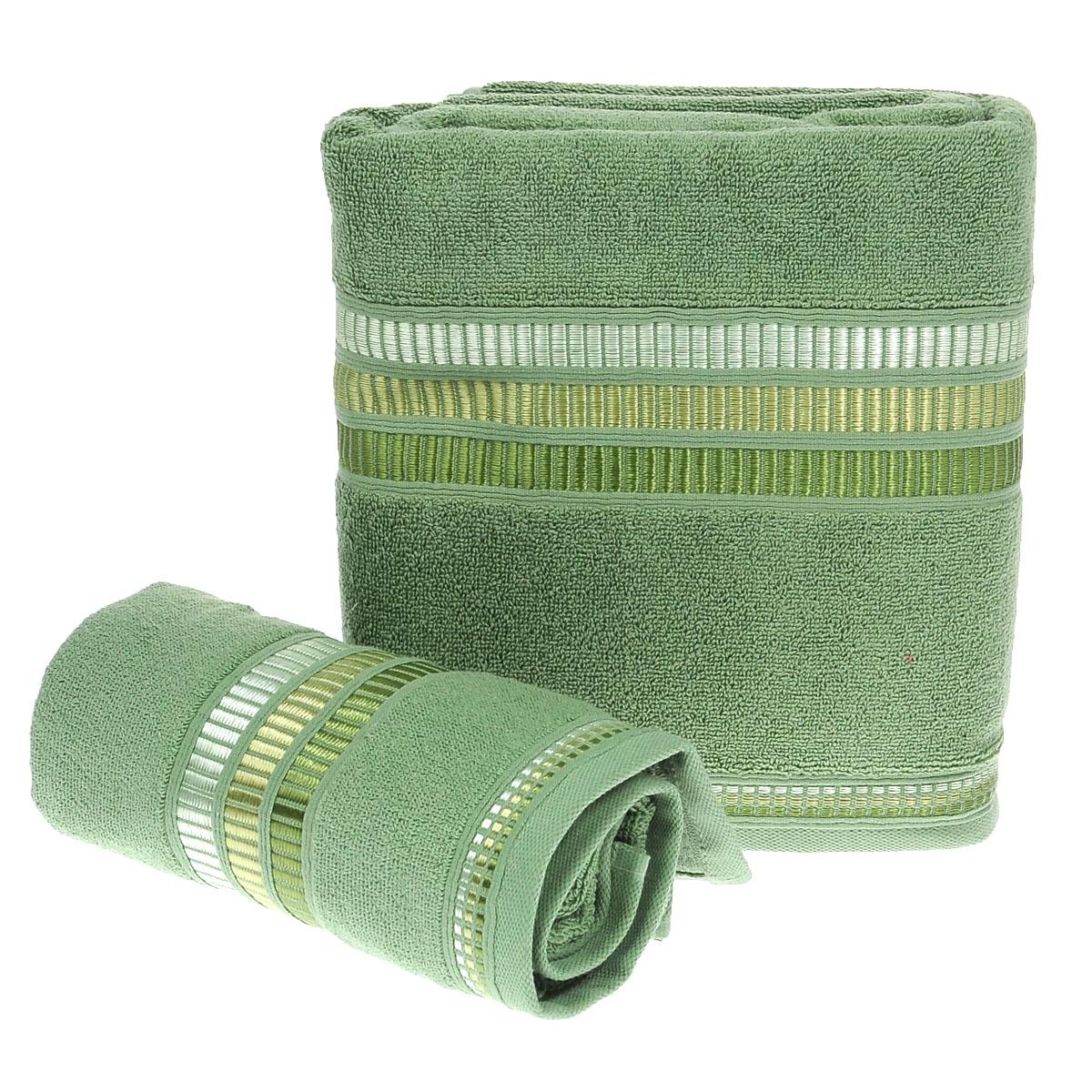 Набор махровых полотенец Coronet Пиано, цвет: зеленый, 2 шт. Б-МП-2020-15-05-сБ-МП-2020-15-05-сПодарочный набор Coronet Пиано состоит из двух полотенец разного размера, выполненных из натуральной махровой ткани. Полотенца украшены изящным декоративным тиснением. Мягкие и уютные, они прекрасно впитывают влагу и легко стираются. Такой набор подарит вам мягкость и необыкновенный комфорт в использовании. Благодаря высокому качеству изготовления, полотенце будет радовать многие годы. Полотенца упакованы в подарочную коробку и станут приятным и полезным подарком вашим друзьям и близким. Комплектация: 2 шт. Плотность полотенец 550 г/м.