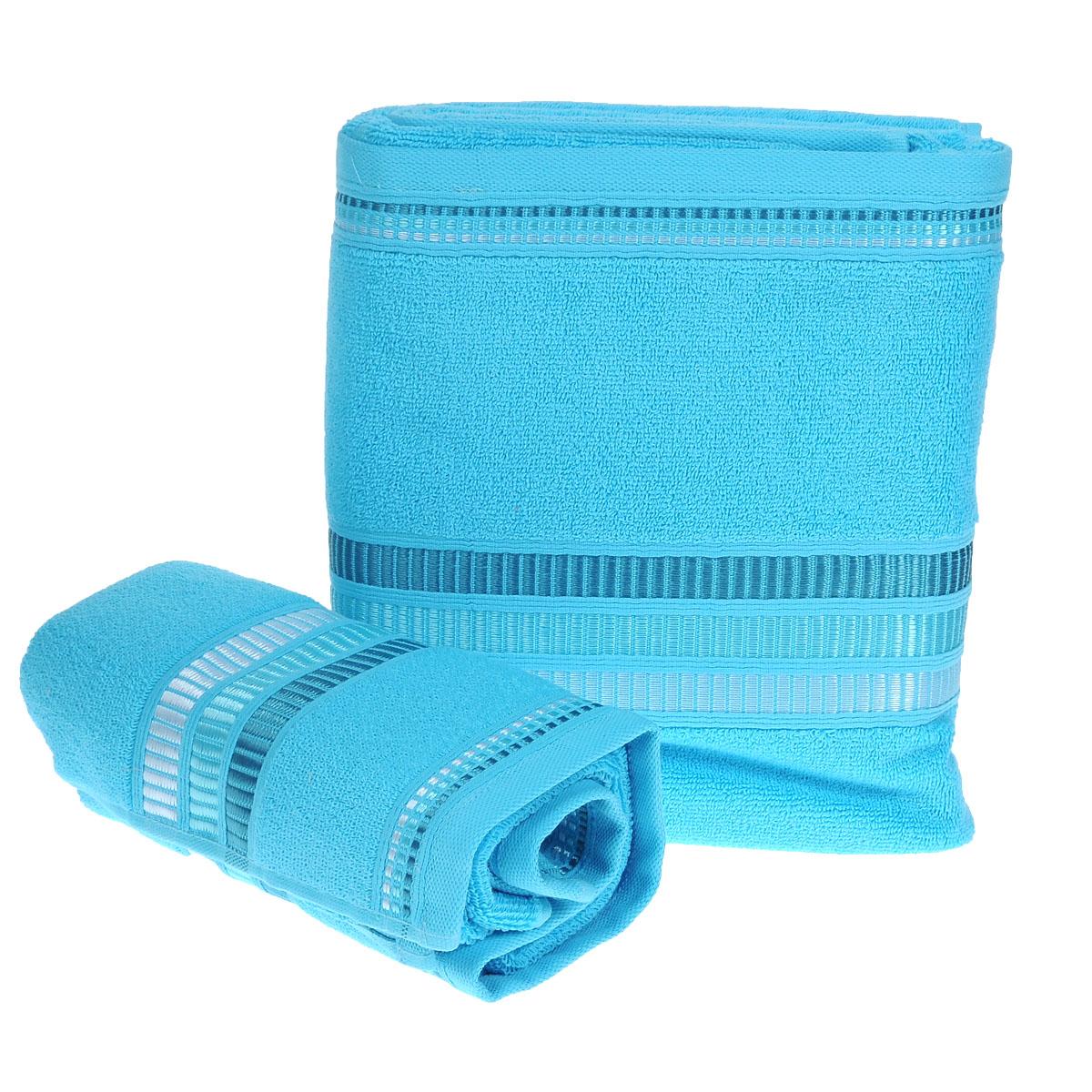 Набор махровых полотенец Coronet Пиано, цвет: бирюзовый, 2 шт. Б-МП-2020-15-04-сБ-МП-2020-15-04-сПодарочный набор Coronet Пиано состоит из двух полотенец разного размера, выполненных из натуральной махровой ткани. Полотенца украшены изящным декоративным тиснением. Мягкие и уютные, они прекрасно впитывают влагу и легко стираются. Такой набор подарит вам мягкость и необыкновенный комфорт в использовании. Благодаря высокому качеству изготовления, полотенце будет радовать многие годы. Полотенца упакованы в подарочную коробку и станут приятным и полезным подарком вашим друзьям и близким.