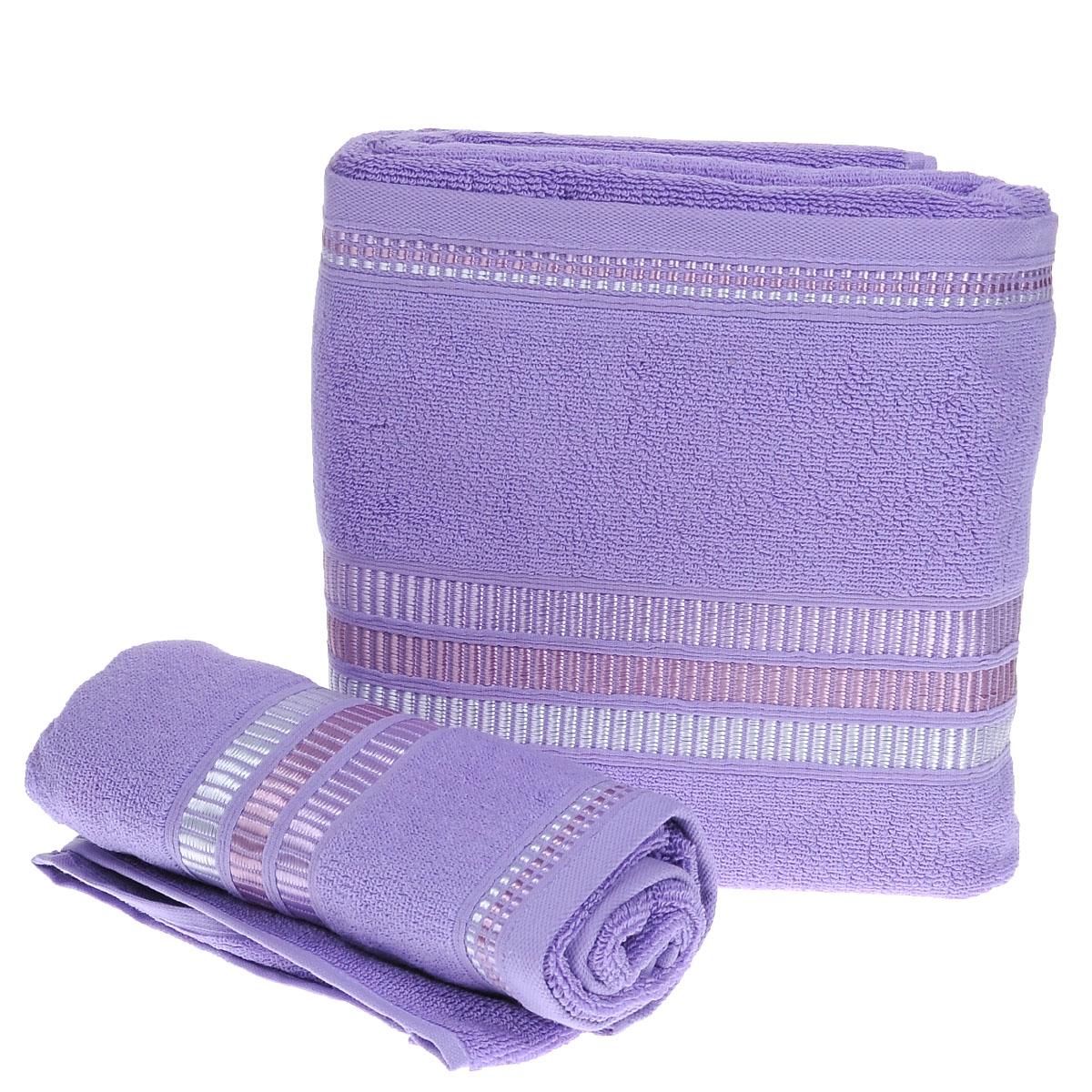 Набор махровых полотенец Coronet Пиано, цвет: светло-фиолетовый, 2 шт. Б-МП-2020-15-09-рБ-МП-2020-15-09-рПодарочный набор Coronet Пиано состоит из двух полотенец разного размера, выполненных из натуральной махровой ткани. Полотенца украшены изящным декоративным тиснением. Мягкие и уютные, они прекрасно впитывают влагу и легко стираются. Такой набор подарит вам мягкость и необыкновенный комфорт в использовании. Благодаря высокому качеству изготовления, полотенце будет радовать многие годы. Полотенца упакованы в подарочную коробку и станут приятным и полезным подарком вашим друзьям и близким. Комплектация: 2 шт. Плотность полотенец 550 г/м.