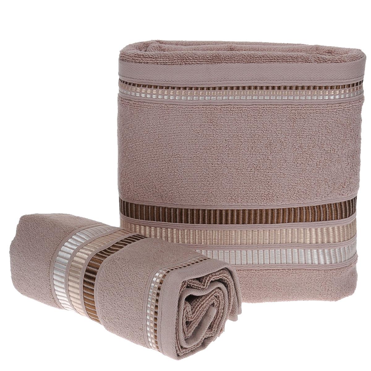 Набор махровых полотенец Coronet Пиано, цвет: коричневый, 2 шт. Б-МП-2020-15-10-кБ-МП-2020-15-10-кПодарочный набор Coronet Пиано состоит из двух полотенец разного размера, выполненных из натуральной махровой ткани. Полотенца украшены изящным декоративным теснением. Мягкие и уютные, они прекрасно впитывают влагу и легко стираются. Такой набор подарит вам мягкость и необыкновенный комфорт в использовании. Благодаря высокому качеству изготовления, полотенце будет радовать многие годы. Полотенца упакованы в подарочную коробку и станут приятным и полезным подарком вашим друзьям и близким. Комплектация: 2 шт. Плотность полотенец 550 г/м.