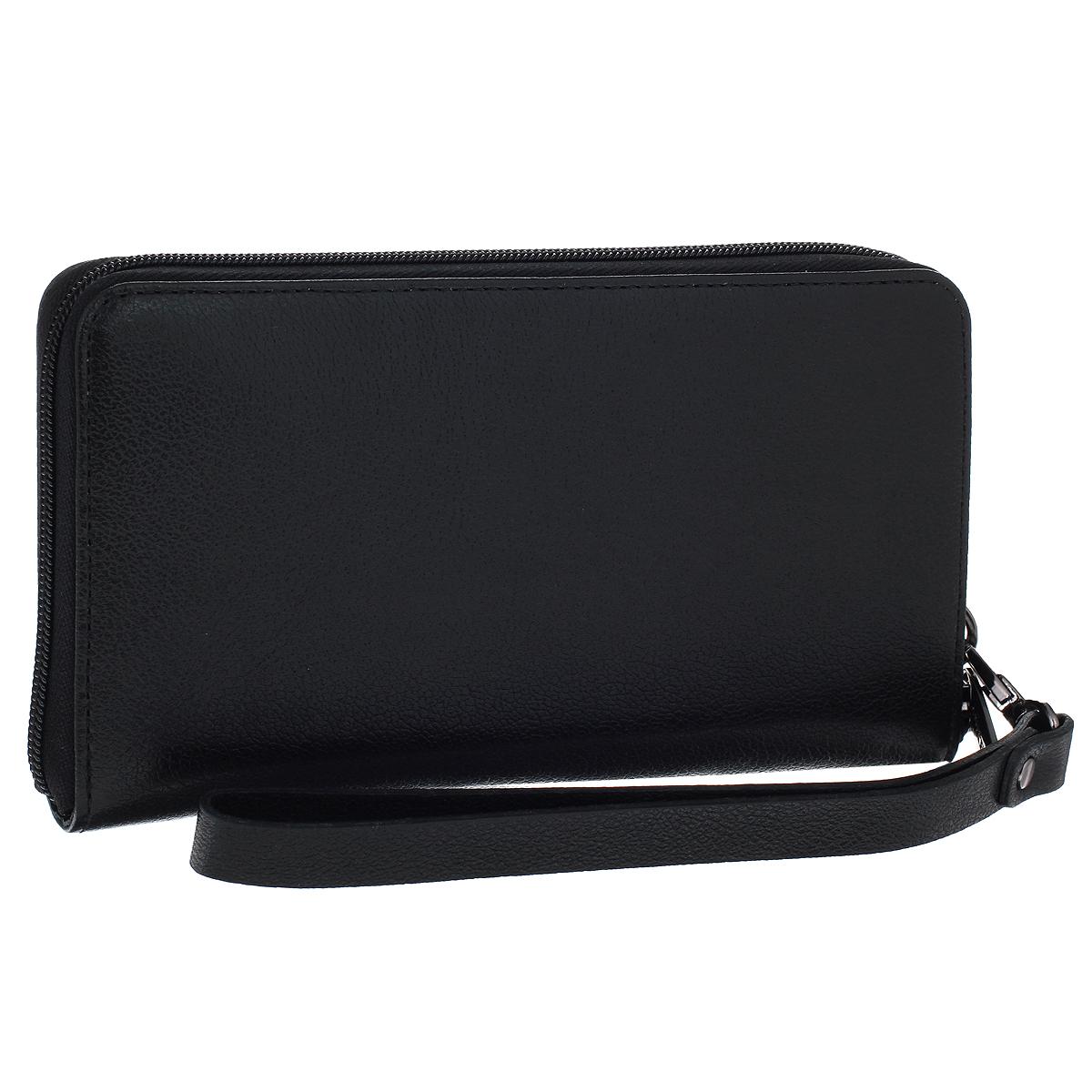 Бизнес-клатч мужской Askent, цвет: черный. PM.45.LGPM.45.LG черныйИзысканный бизнес-клатч Askent изготовлен из натуральной кожи и исполнен в лаконичном стиле. Изделие закрывается на застежку-молнию. Внутри - два отделения для купюр, отделение для мелочи на молнии, два скрытых кармана и двенадцать карманов для пластиковых карт. Бизнес-клатч оснащен удобной ручкой-петелькой. Изделие упаковано в фирменный чехол. Стильный бизнес-клатч - незаменимая вещь в гардеробе каждого мужчины. Он прекрасно впишется в модный образ и подчеркнет ваш безупречный вкус.