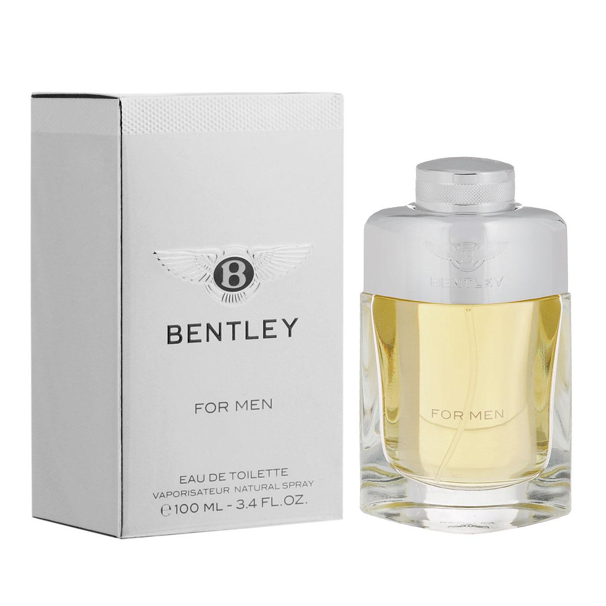 Bentley Туалетная вода For Men, мужская, 100 млB140308Благородный яркий аромат от Bentley по-достоинству оценит уверенный в себе современный мужчина. В основе идеи - трансформация роскошного автомобиля в не менее роскошный мужской аромат. Классификация аромата : древесный, кожаный, пряный. Пирамида аромата : Верхние ноты: черный перец, лавровый лист, бергамот. Ноты сердца: ром, корица, шалфей, ноты кожи. Ноты шлейфа: кедр, пачули, мускус, cиамский бензоин. Ключевые слова Cовременный, элегантный, мужественный! Туалетная вода - один из самых популярных видов парфюмерной продукции. Туалетная вода содержит 4-10% парфюмерного экстракта. Главные достоинства данного типа продукции заключаются в доступной цене, разнообразии форматов (как правило, 30, 50, 75, 100 мл), удобстве использования (чаще всего - спрей). Идеальна для дневного использования. Товар сертифицирован.