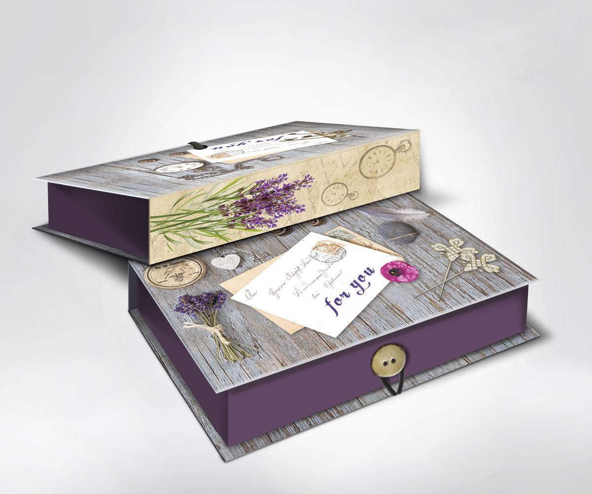 Подарочная коробка Ретро, 22 см х 16 см х 7 см36509Подарочная коробка Ретро выполнена из плотного картона. Крышка оформлена ярким изображением почтового письма с надписью For you. Коробка закрывается на пуговицу. Подарочная коробка - это наилучшее решение, если вы хотите порадовать ваших близких и создать праздничное настроение, ведь подарок, преподнесенный в оригинальной упаковке, всегда будет самым эффектным и запоминающимся. Окружите близких людей вниманием и заботой, вручив презент в нарядном, праздничном оформлении.