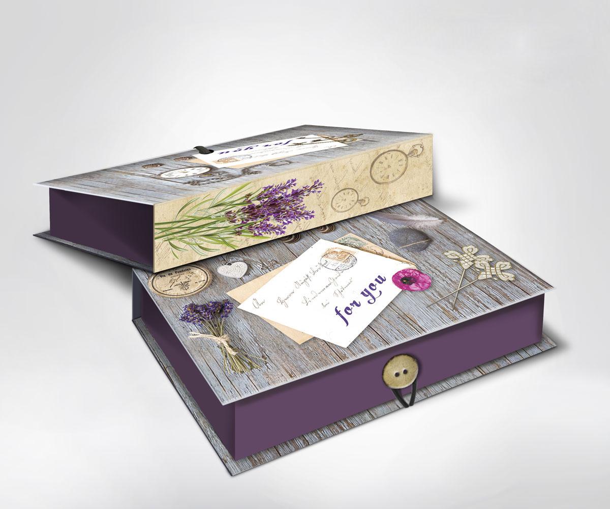 Подарочная коробка Ретро, 18 см х 12 см х 5 см36507Подарочная коробка Ретро выполнена из плотного картона. Крышка оформлена ярким изображением почтового письма с надписью For you. Коробка закрывается на пуговицу. Подарочная коробка - это наилучшее решение, если вы хотите порадовать ваших близких и создать праздничное настроение, ведь подарок, преподнесенный в оригинальной упаковке, всегда будет самым эффектным и запоминающимся. Окружите близких людей вниманием и заботой, вручив презент в нарядном, праздничном оформлении.