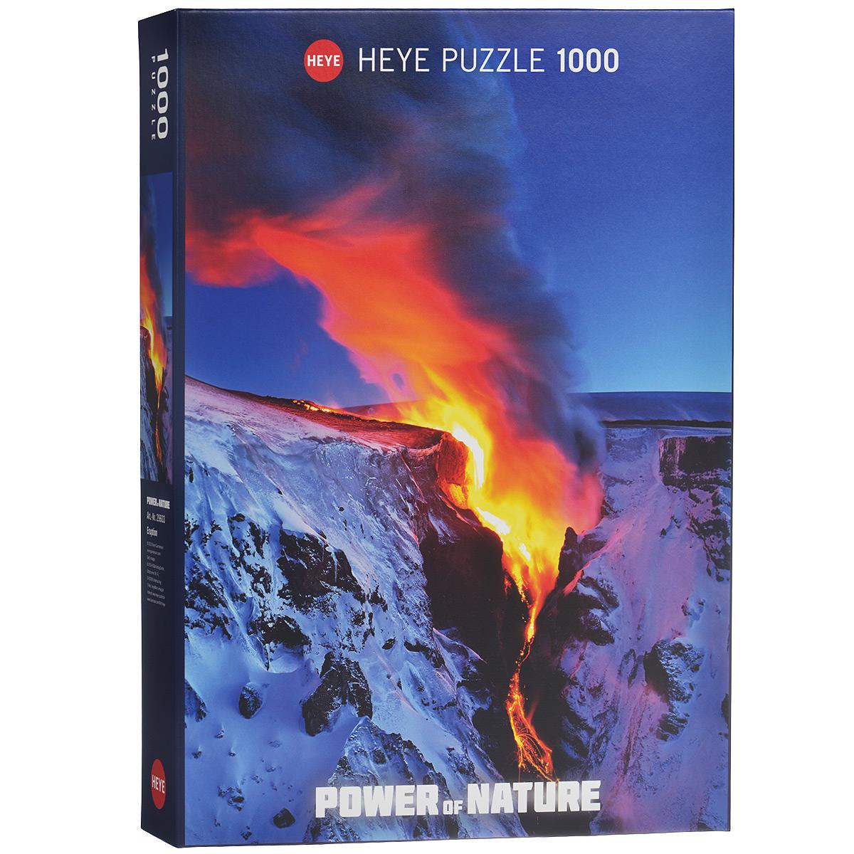 HEYE Извержение вулканов. Пазл, 1000 элементов29603Пазл Извержение вулканов без сомнения придется вам по душе, и вы получите массу удовольствия от процесса собирания картины. Извергающийся вулкан и наводит ужас, и держит в оцепенении из-за своей пугающей, но все же красоты, которой славится это природное явление. Пазлы - прекрасное антистрессовое средство для взрослых и замечательная развивающая игра для детей. Собирание пазла развивает у ребенка мелкую моторику рук, тренирует наблюдательность, логическое мышление, знакомит с окружающим миром, с цветом и разнообразными формами, учит усидчивости и терпению, аккуратности и вниманию. Собирание пазла - прекрасное времяпрепровождение для всей семьи.