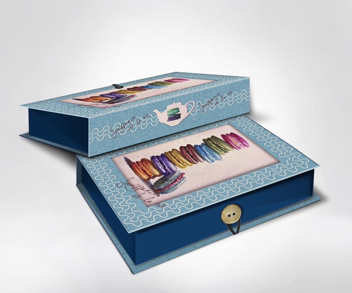 Подарочная коробка Пирожные, 22 см х 16 см х 7 см36497Подарочная коробка Пирожные выполнена из плотного картона. Крышка оформлена ярким изображением разноцветных пирожных. Коробка закрывается на пуговицу. Подарочная коробка - это наилучшее решение, если вы хотите порадовать ваших близких и создать праздничное настроение, ведь подарок, преподнесенный в оригинальной упаковке, всегда будет самым эффектным и запоминающимся. Окружите близких людей вниманием и заботой, вручив презент в нарядном, праздничном оформлении.