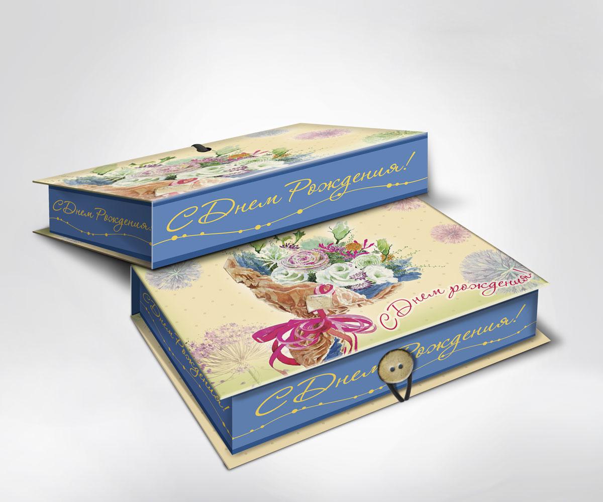 Подарочная коробка Букет, 18 см х 12 см х 5 см36522Подарочная коробка Букет выполнена из плотного картона. Крышка оформлена ярким изображением букета роз и надписью С Днем Рождения!. Коробка закрывается на пуговицу. Подарочная коробка - это наилучшее решение, если вы хотите порадовать ваших близких и создать праздничное настроение, ведь подарок, преподнесенный в оригинальной упаковке, всегда будет самым эффектным и запоминающимся. Окружите близких людей вниманием и заботой, вручив презент в нарядном, праздничном оформлении.