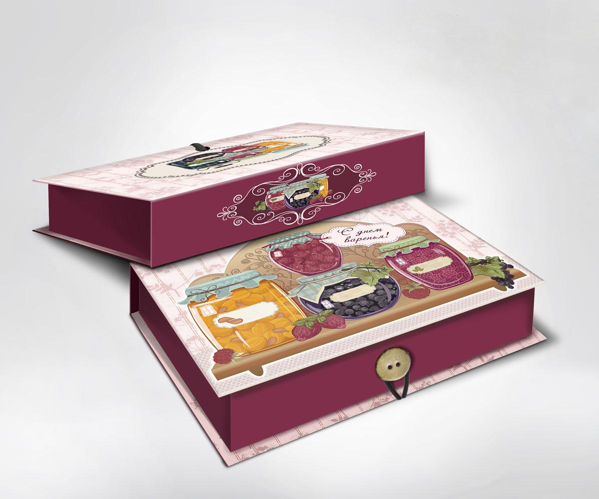 Подарочная коробка Варенье, 22 х 16 х 7 см36494Подарочная коробка Варенье выполнена из плотного картона. Крышка оформлена ярким изображением банок с вареньем. Коробка закрывается на пуговицу. Подарочная коробка - это наилучшее решение, если вы хотите порадовать ваших близких и создать праздничное настроение, ведь подарок, преподнесенный в оригинальной упаковке, всегда будет самым эффектным и запоминающимся. Окружите близких людей вниманием и заботой, вручив презент в нарядном, праздничном оформлении.