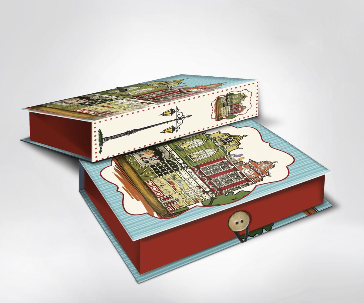 Подарочная коробка Амстердам, 20 х 14 х 6 см36529Подарочная коробка Амстердам выполнена из плотного картона. Крышка оформлена ярким изображением городского пейзажа. Коробка закрывается на пуговицу. Подарочная коробка - это наилучшее решение, если вы хотите порадовать ваших близких и создать праздничное настроение, ведь подарок, преподнесенный в оригинальной упаковке, всегда будет самым эффектным и запоминающимся. Окружите близких людей вниманием и заботой, вручив презент в нарядном, праздничном оформлении.