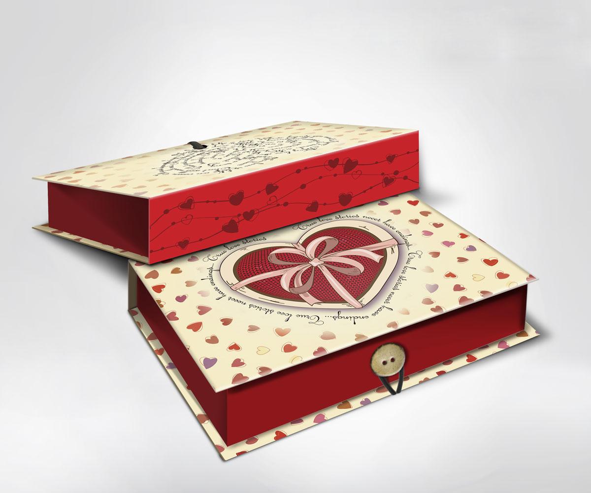 Подарочная коробка Сердце, 22 х 16 х 7 см36512Подарочная коробка Сердце выполнена из плотного картона. Крышка оформлена ярким изображением сердечек. Коробка закрывается на пуговицу. Подарочная коробка - это наилучшее решение, если вы хотите порадовать ваших близких и создать праздничное настроение, ведь подарок, преподнесенный в оригинальной упаковке, всегда будет самым эффектным и запоминающимся. Окружите близких людей вниманием и заботой, вручив презент в нарядном, праздничном оформлении.