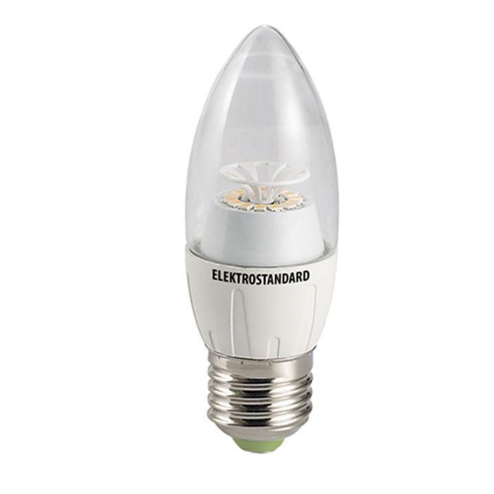 Светодиодная лампа Elektrostandard Свеча CR 12SMD 6W 4200K E27a029976Светодиодные лампы Elektrostandard благодаря низкому потреблению и высокой энергоэффективности являются одним из самым перспективным видом освещения. Светодиодные лампы Электростандард можно устанавливать во все светильники в которых используются лампы накаливания, эноргосберегающие, галогенные. Срок службы светодиодных ламп составляет от 30000 до 50000 часов и не зависит от количества включения и выключения, Напряжение: 220 вольт