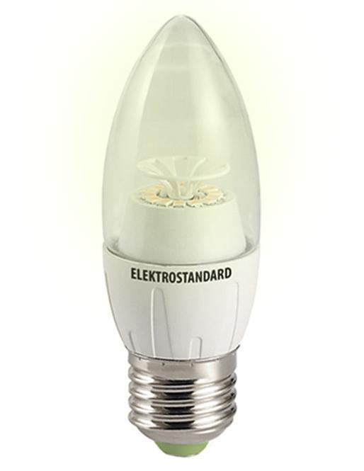 Светодиодная лампа Elektrostandard Свеча CR 12SMD 6W 3300K E27a029974Светодиодные лампы Elektrostandard благодаря низкому потреблению и высокой энергоэффективности являются одним из самым перспективным видом освещения. Светодиодные лампы Электростандард можно устанавливать во все светильники в которых используются лампы накаливания, эноргосберегающие, галогенные. Срок службы светодиодных ламп составляет от 30000 до 50000 часов и не зависит от количества включения и выключения, Напряжение: 220 вольт