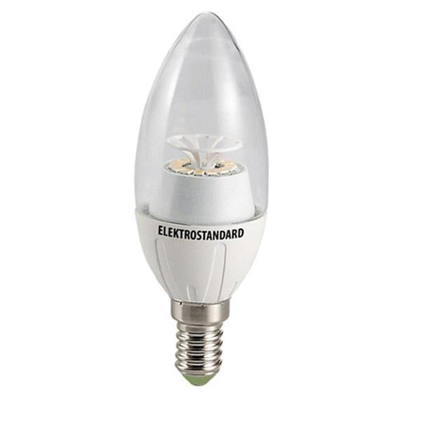 Светодиодная лампа Elektrostandard Свеча CR 14SMD 4W 4200K E14a029971Светодиодные лампы Elektrostandard благодаря низкому потреблению и высокой энергоэффективности являются одним из самым перспективным видом освещения. Светодиодные лампы Электростандард можно устанавливать во все светильники в которых используются лампы накаливания, эноргосберегающие, галогенные. Срок службы светодиодных ламп составляет от 30000 до 50000 часов и не зависит от количества включения и выключения, Напряжение: 220 вольт