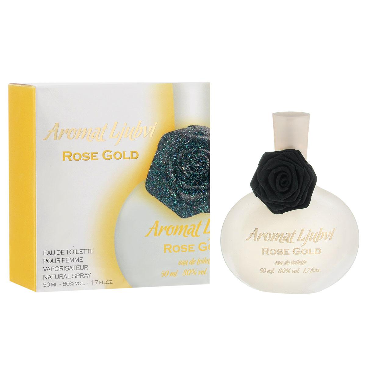 Apple Parfums Туалетная вода Aromat Ljubvi. Rose Gold, женская, 50 мл