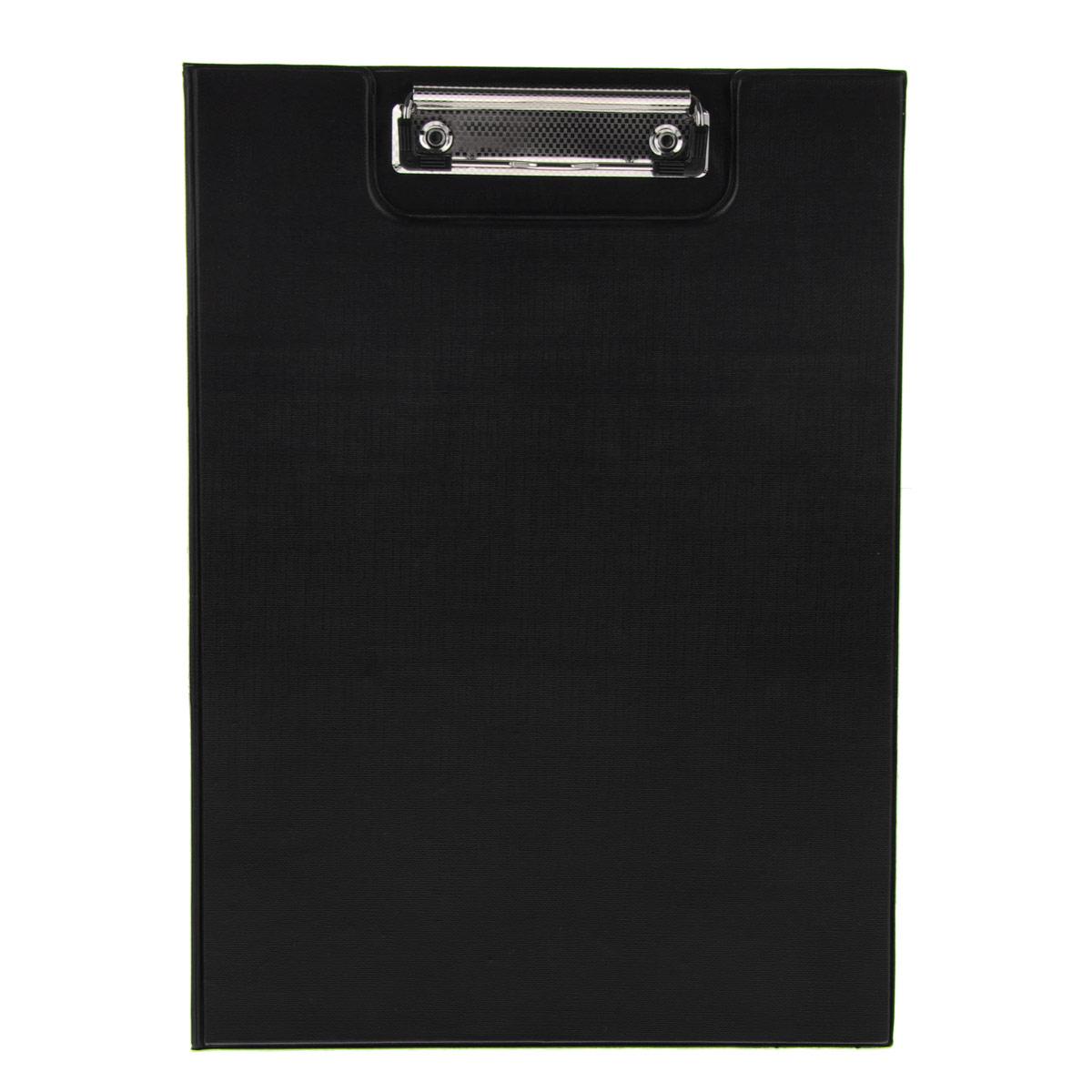 Папка-планшет Centrum, с крышкой, цвет: черный. Формат А480028Папка-планшет (клипборд) Centrum - это удобный и практичный инструмент для работы с документацией. Клипборд изготовлен из жесткого картона, обтянутого пленкой из ПВХ. Благодаря своей жесткости папка-планшет позволяет делать записи навесу. Металлический зажим надежно фиксирует листы, предотвращая сползание бумаги. Широкая крышка обеспечивает сохранность документов и защищает их от пыли и влаги. Папка-планшет будет незаменима для работы с документацией в дороге или на складе, а также может быть использована для подготовки и хранения текстов выступлений или докладов.