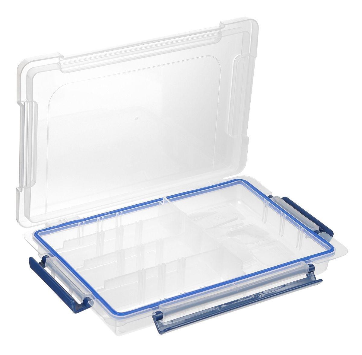 Контейнер для мелочей, 27 см х 17,8 см х 4,5 см. 525960525960Контейнер для мелочей изготовлен из прозрачного пластика, что позволяет видеть содержимое. Внутри содержится 20 ячеек для хранения мелких принадлежностей. В комплект входят вставляющиеся перегородки, позволяющие варьировать размеры ячеек. Крышка плотно закрывается на три замка-защелки. Такой контейнер поможет держать вещи в порядке.